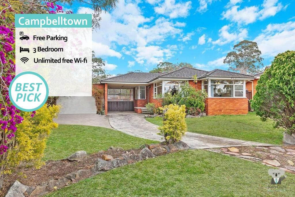 CAMPBELLTOWN HOLIDAY HOME 3 BED  FREE PARKING NCA039 - Accommodation Mooloolaba